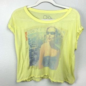 Chaser Blondie yellow band muscle t shirt SZ M